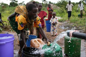 new borehole in africa